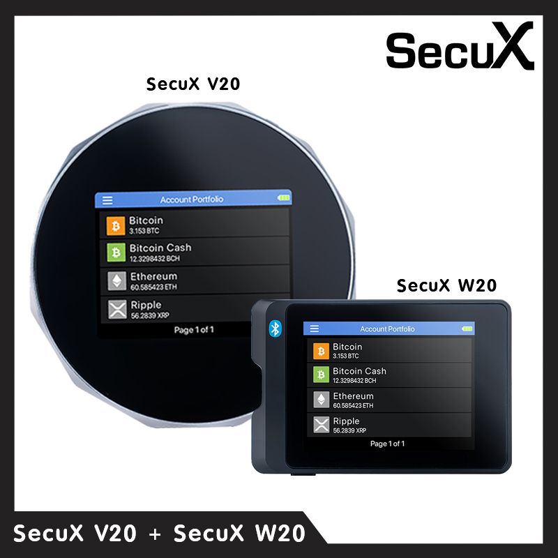 SecuX Crypto Hardware Wallet V20+W20