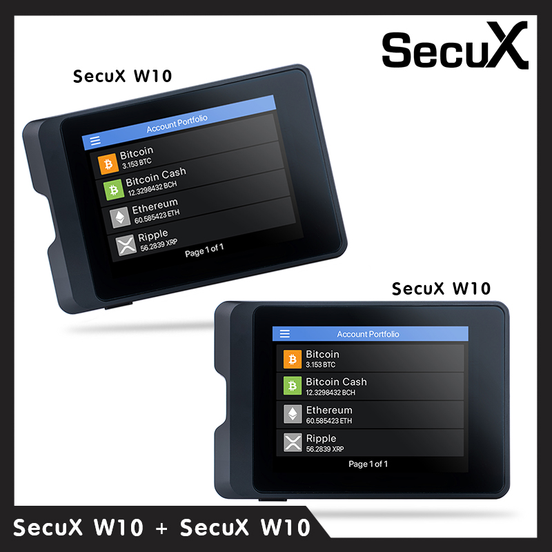 SecuX Crypto Hardware Wallet W10x2 ( แพ็คคู่ )
