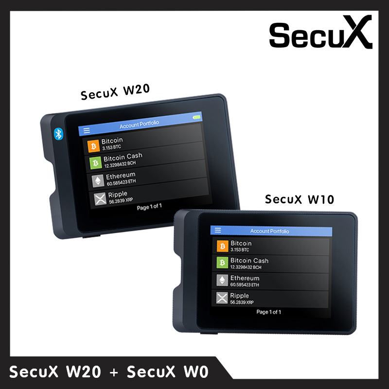 SecuX Crypto Hardware Wallet W20+W10