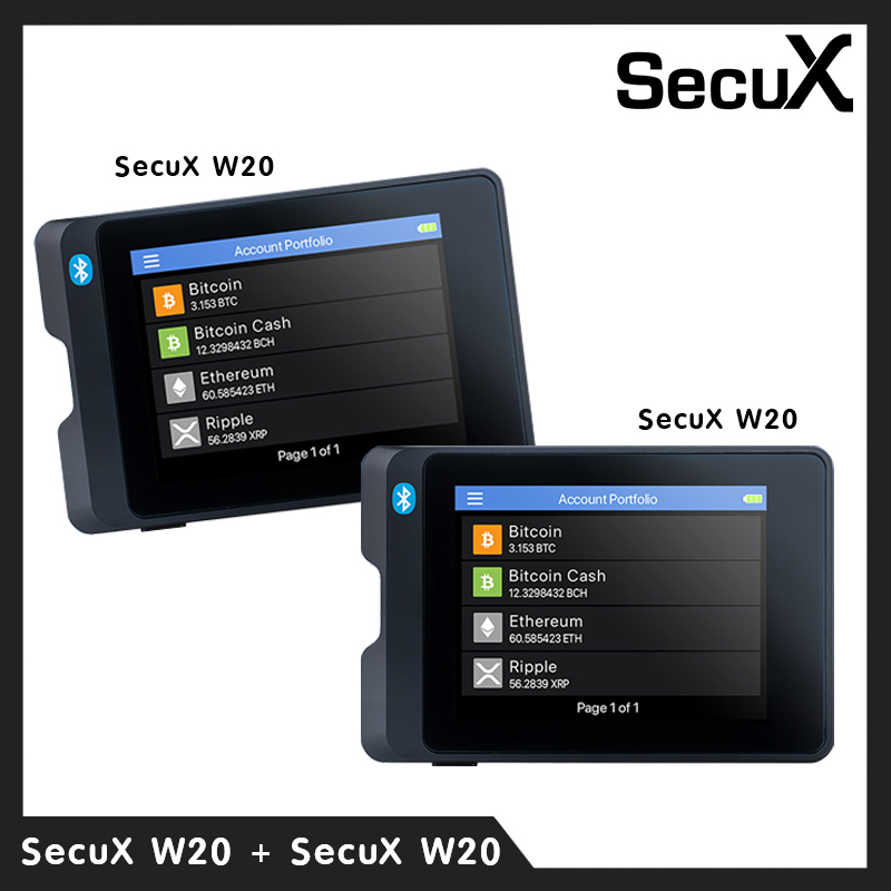 SecuX Crypto Hardware Wallet W20 ( แพ็คคู่ )