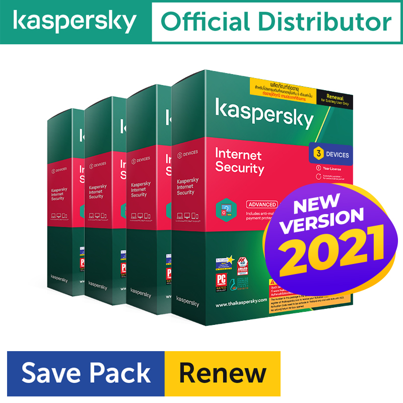 Kaspersky Internet Security 3D1Y Renew(12เครื่อง)